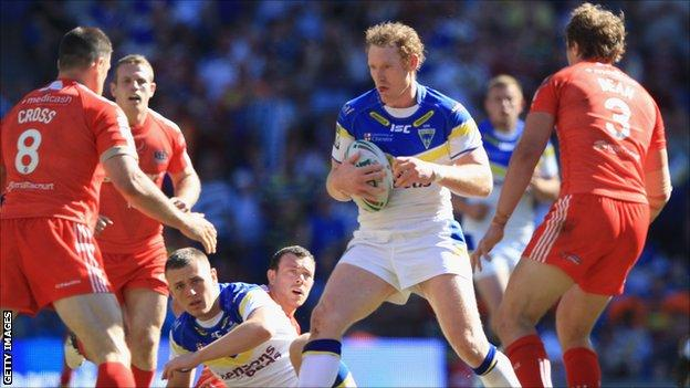 Warrington's Joel Monaghan in action against Widnes in May