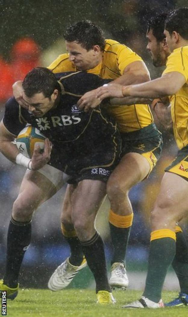Lamont was a replacement for the Scots in the victory over Australia