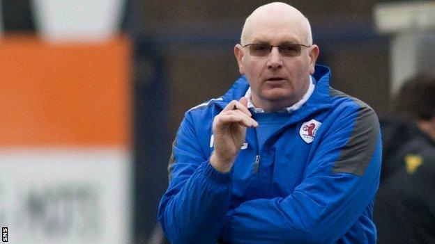 Raith Rovers manager John McGlynn