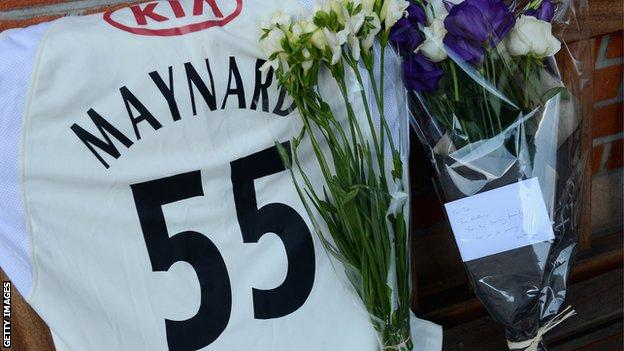 Tributes to Tom Maynard at the Oval