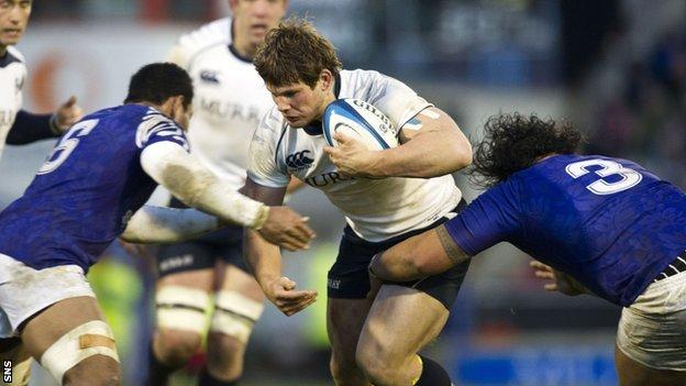 Scotland hooker Ross Ford in action against Samoa in 2010