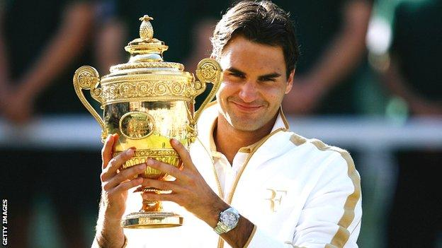 Roger Federer wins Wimbledon in 2009