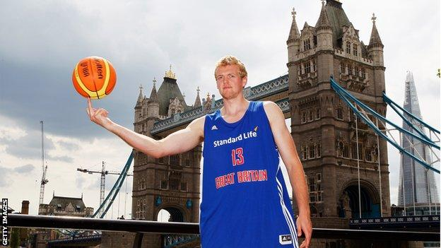 Dan Clark of Team GB basketball
