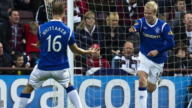 Steven Naismith (right) and Steven Whittaker have lodged objections to their transfer from the old Rangers Football Club to the newco.
