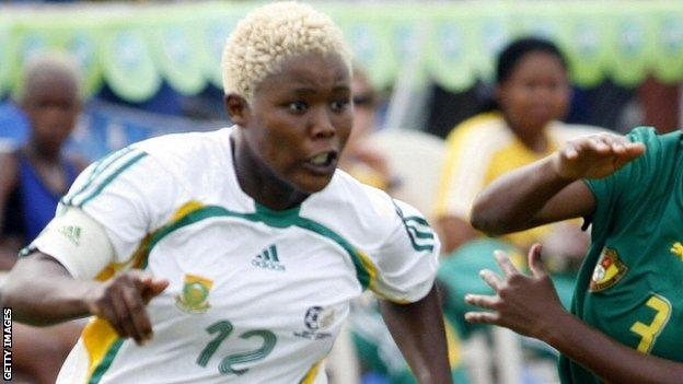 Portia Modise in action in 2006