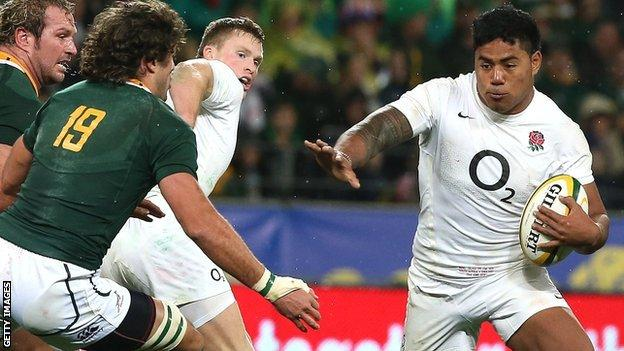 England centre Manu Tuilagi had gome good moments in the third Test