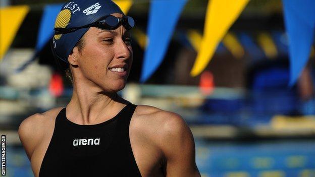 US swimmer Janet Evans