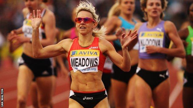 British 800m runner Jenny Meadows