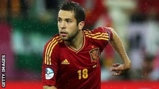 Valencia and Spain full-back Jordi Alba