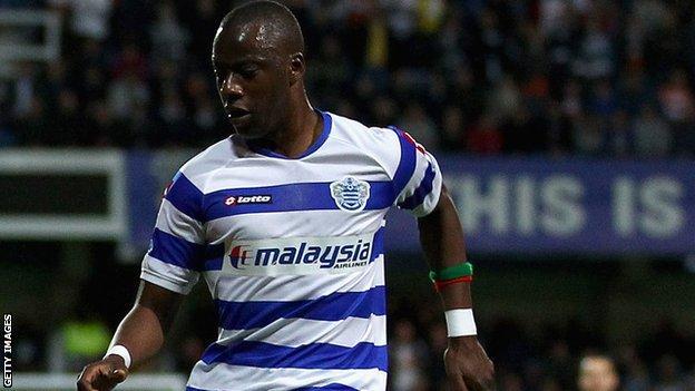 QPR midfielder Samba Diakite keeps his eye on the ball at Loftus Road