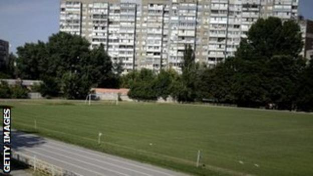 The Start stadium in Kiev where the 'Death Match' took place