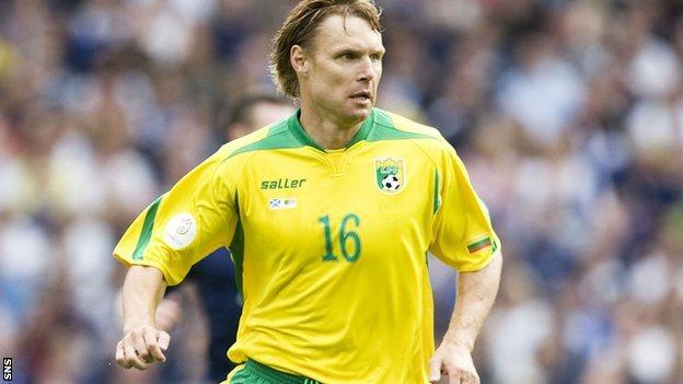 Jankauskas in action for Lithuania