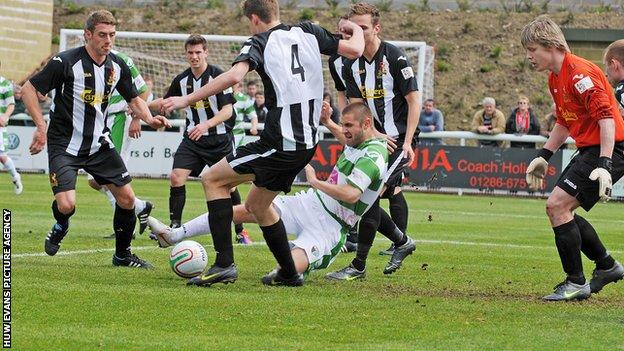 Cefn Druids lost to The New Saints in last season's Welsh Cup Final