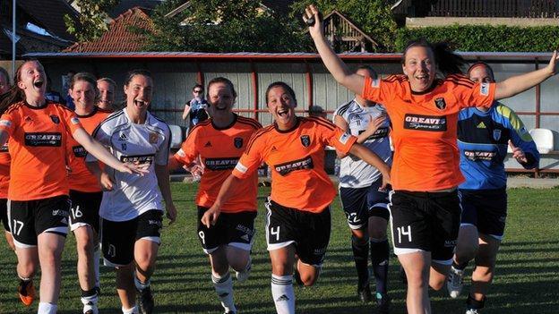 Glasgow celebrate retaining their Scottish title last season