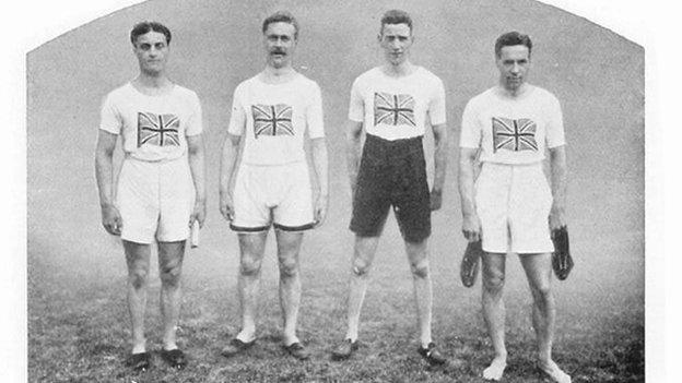 Great Britain 4 x 100m relay team, 1912 Olympic Games