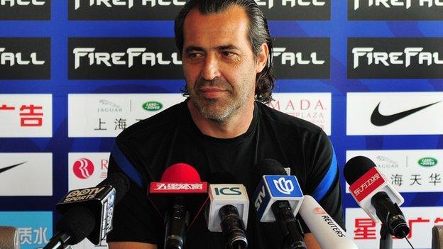 Shanghai Shenhua coach Sergio Batista
