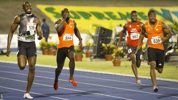 Usain Bolt and Yohan Blake