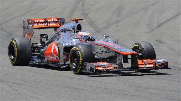 McLaren Mercedes' British driver Jenson Button