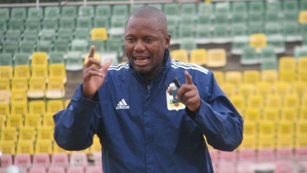 CAR coach Herve Loungoundji