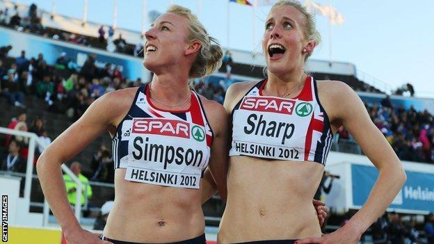 Jemma Simpson (left) will not join Lynsey Sharp at London 2012