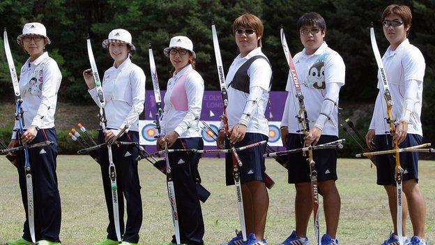 South Korea's London 2012 archers