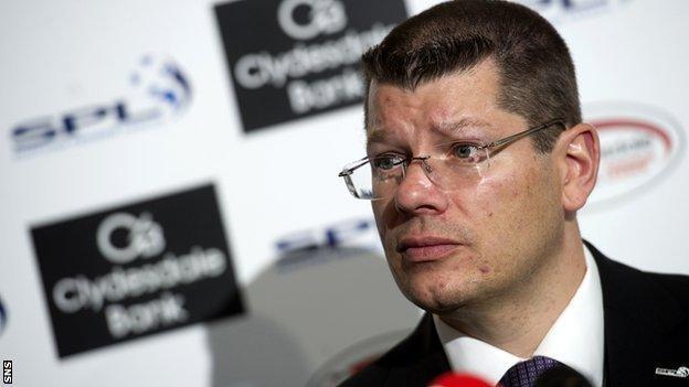 Scottish Premier League chief executive Neil Doncaster