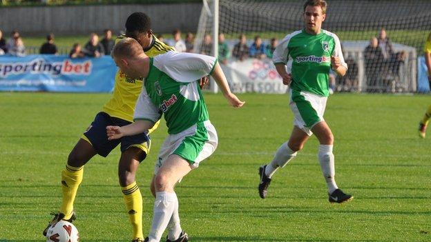 Guernsey played a Bristol City XI in pre-season last year