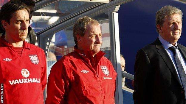 Gary Neville, Ray Lewington, Roy Hodgson