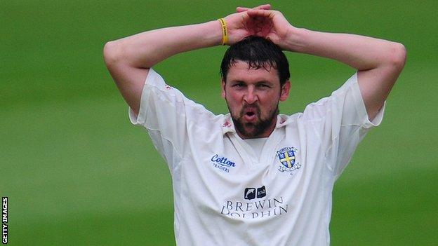 Fast bowler Steve Harmison