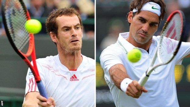 Andy Murray faces Roger Federer at Wimbledon
