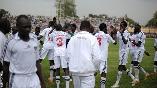 South Sudan footballers