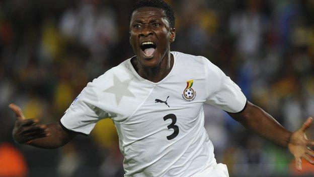 Ghana forward Asamoah Gyan