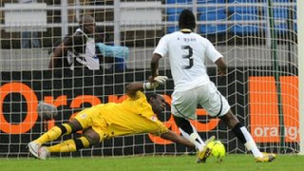 Zambia goalkeeper Kennedy Mweene saves the 2012 Africa Cup of Nations penalty that prompted Asamoah Gyan's international retirement