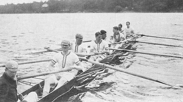 1912 Leander crew at Stockholm Olympics