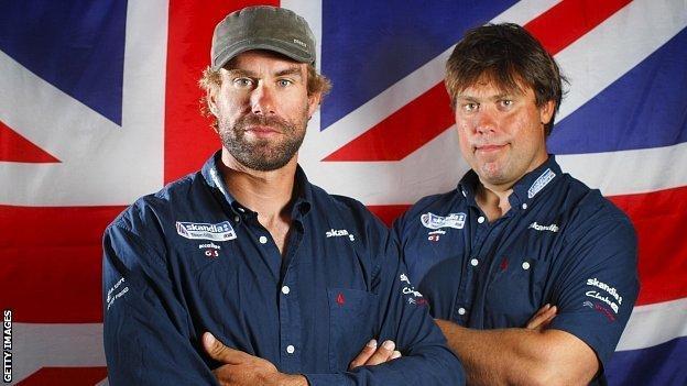 Iain Percy (left) and Andrew Simpson