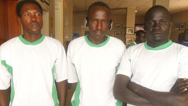 Players from South Sudan's Al Salaam Wau