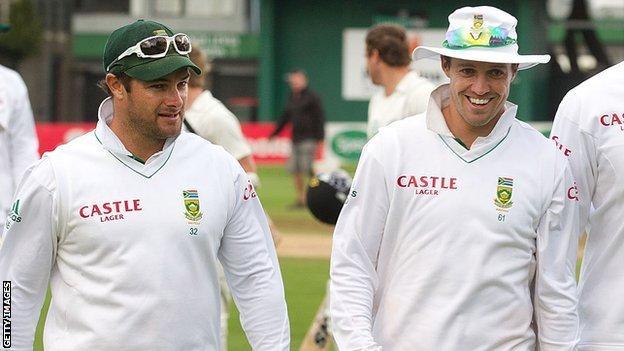 Mark Boucher and AB de Villiers