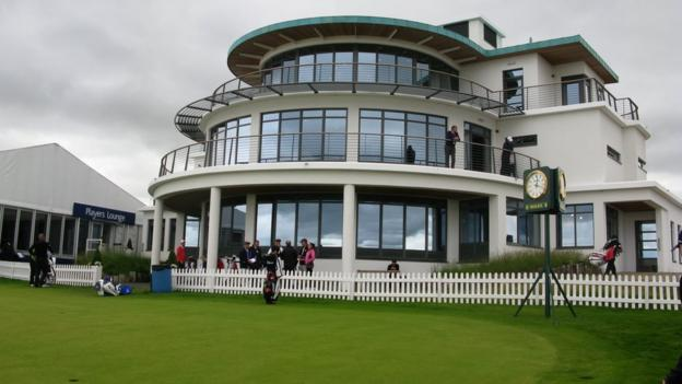 The clubhouse at Castle Stuart Golf Links
