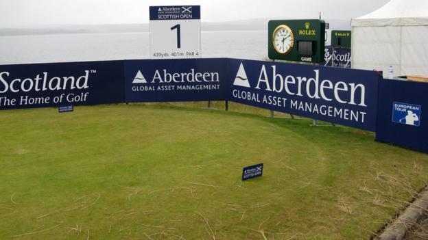 The first tee at Castle Stuart Golf Links