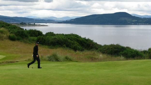 France's Gregory Bourdy at Castle Stuart Golf Links