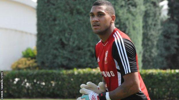 Wes Foderingham at Swindon's training camp in Italy