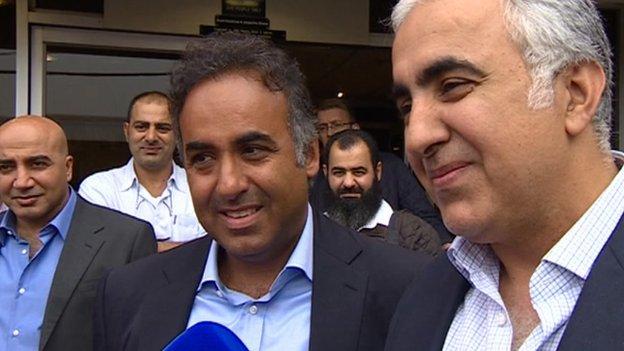 Fawaz Al Hasawi (left) and Abdulaziz Al Hasawi