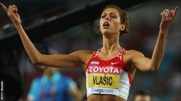 Croatian high jumper Blanka Vlasic