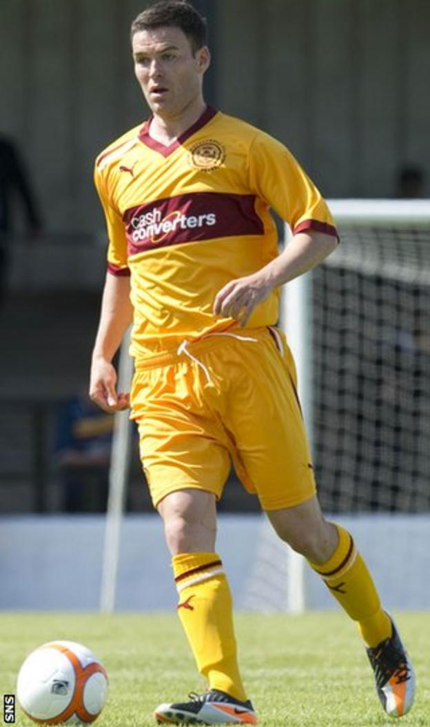 Trialist Ramsden plays for Motherwell in the 4-0 defeat at Somerset Park