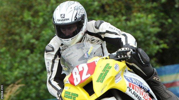 David Johnson in action at last year's Ulster Grand Prix