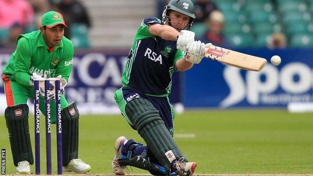 Bangladesh wicketkeeper Mushfiqur Rahim and Ireland's William Porterfield
