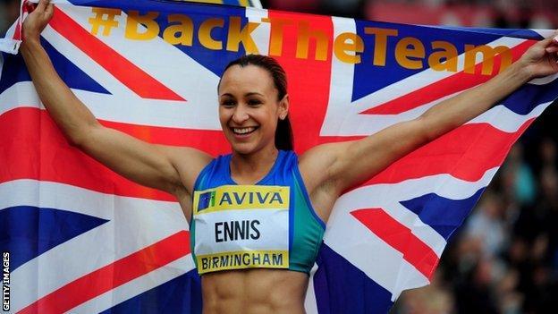 Team GB heptathlete and 100m hurdler Jessica Ennis