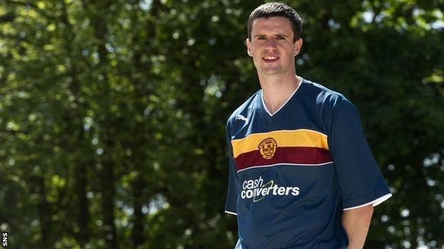 Motherwell player Jamie Murphy