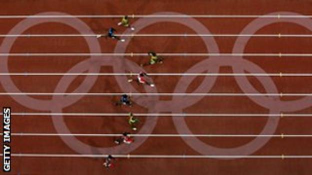 100m final 2008 Olympic Games