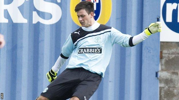 Calum Antell in action for Hibs against East Fife